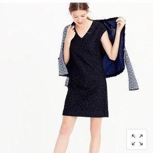 J.Crew sleeveless lace shift dress